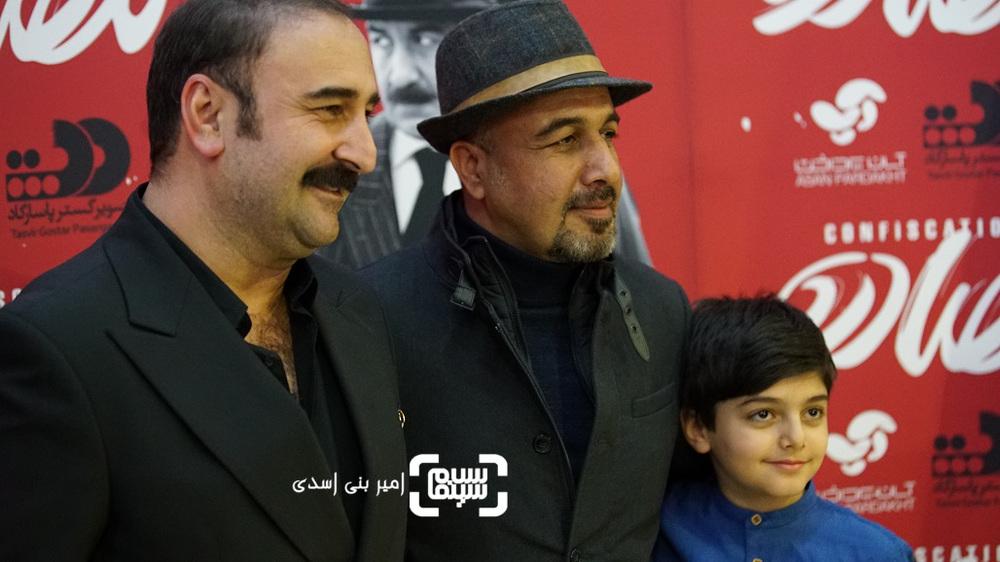 مهران احمدی، رضا عطاران و امیرصدرا حقانی در اکران مردمی فیلم «مصادره» در سینما کوروش