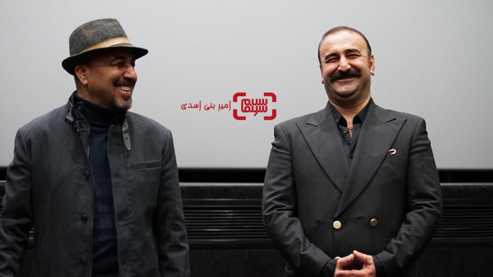 مهران احمدی و رضا عطاران در اکران مردمی فیلم «مصادره» در سینما کوروش