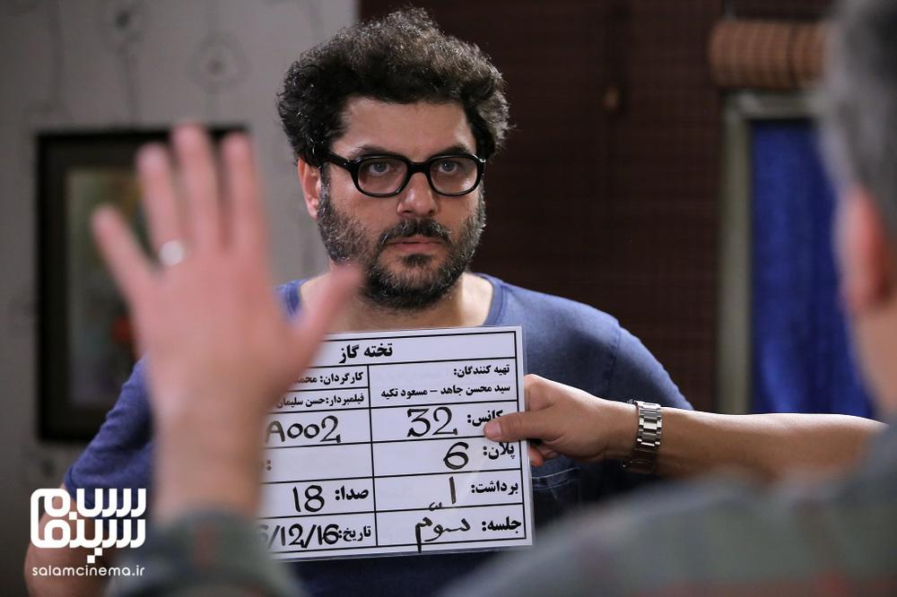 سام درخشانی در پشت صحنه فیلم «تخته گاز»