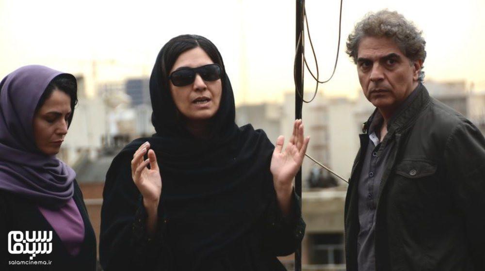 مرضیه وفامهر، مهدی احمدی و رایا نصیری در پشت صحنه فیلم سینمایی «دژاوو»