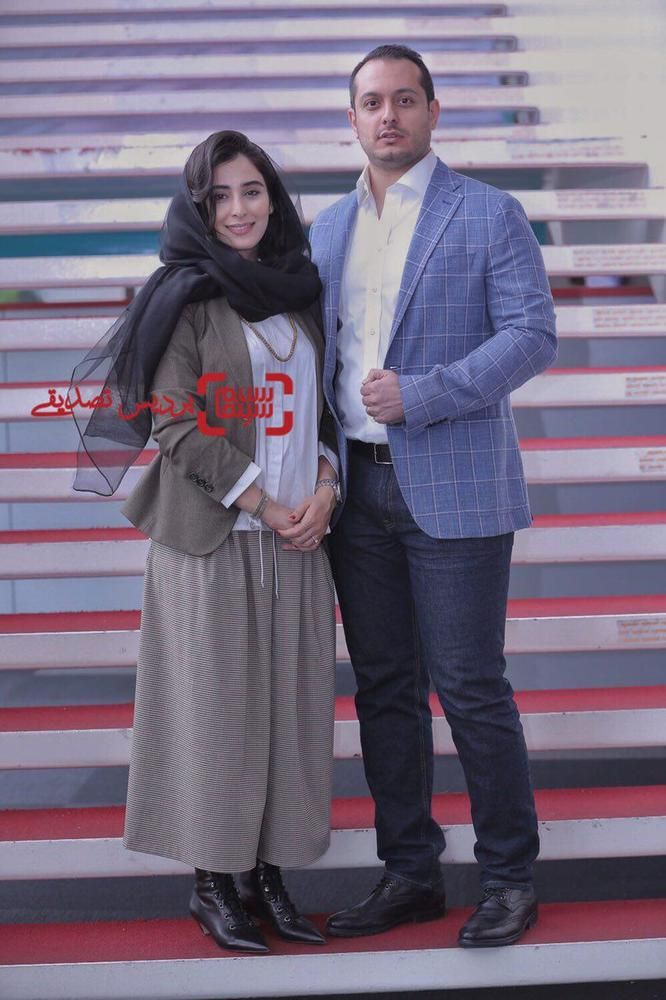 آناهیتا افشار و همسرش در اکران فیلم «یک کیلو و بیست و یک گرم» در جشنواره جهانی فیلم فجر