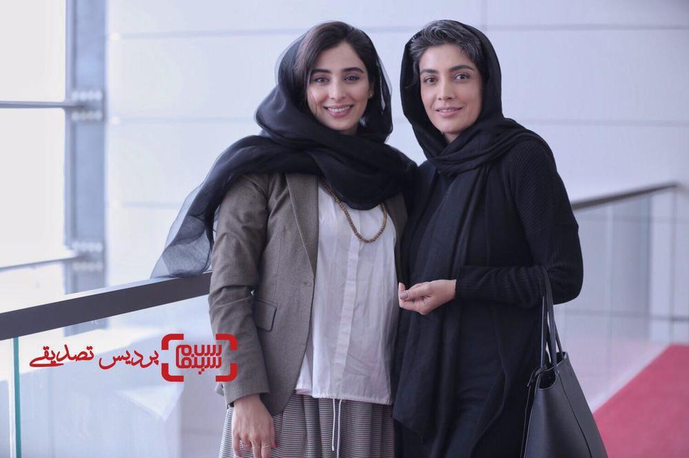 آناهیتا افشار و لیلا زارع در اکران فیلم «یک کیلو و بیست و یک گرم» در جشنواره جهانی فیلم فجر