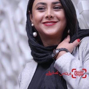 آزاده صمدی در اکران فیلم «مارموز» در سی و ششمین جشنواره جهانی فیلم فجر
