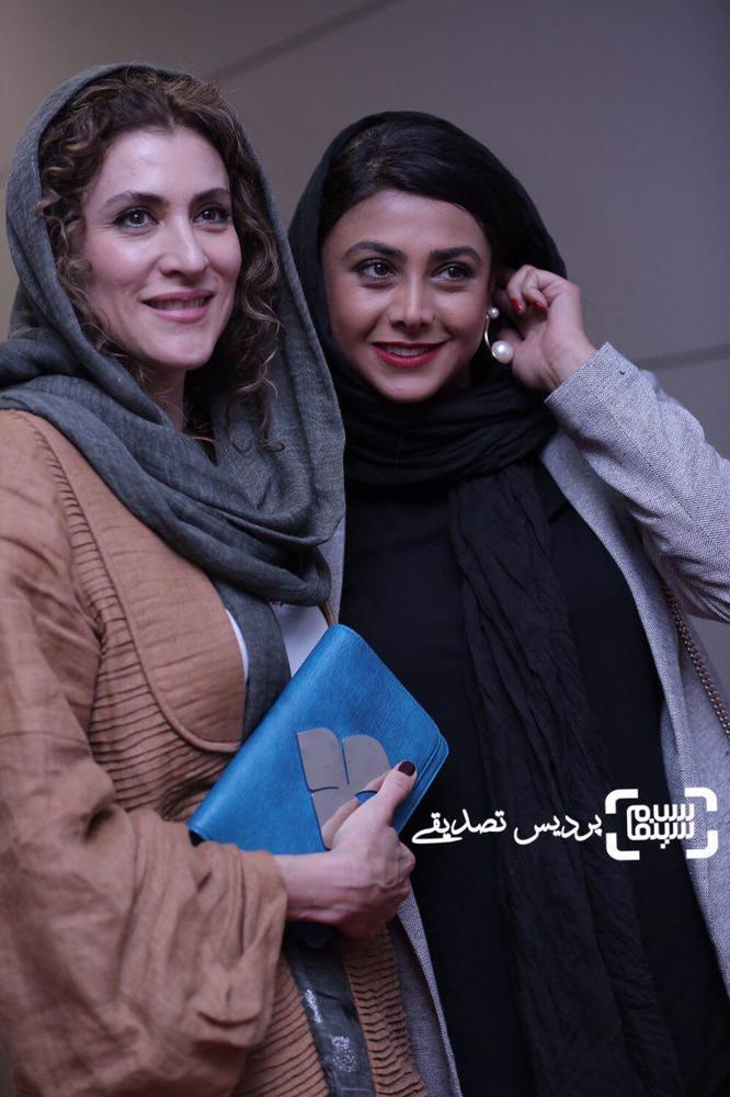 ویشکا آسایش و آزاده صمدی در اکران فیلم «مارموز» در سی و ششمین جشنواره جهانی فیلم فجر