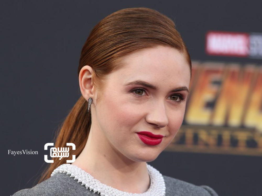 کارن گیلان در اکران فیلم سینمایی «انتقام جویان-جنگ ابدیت»(Avengers: Infinity War) در لس آنجلس
