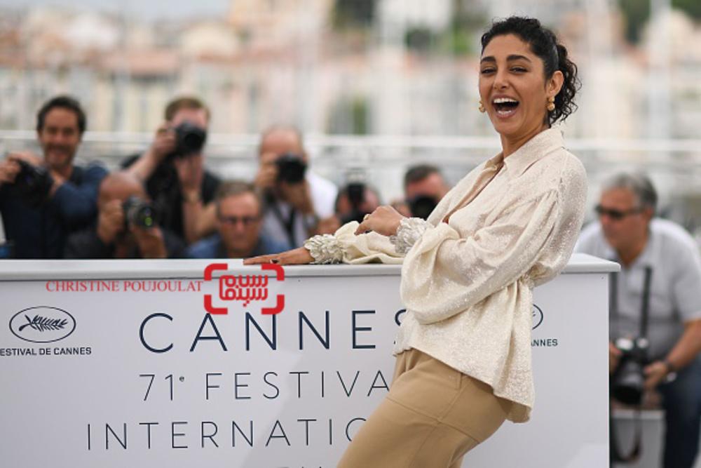 گلشیفته فراهانی در فتوکال فیلم «دختران خورشید» در کن 2018