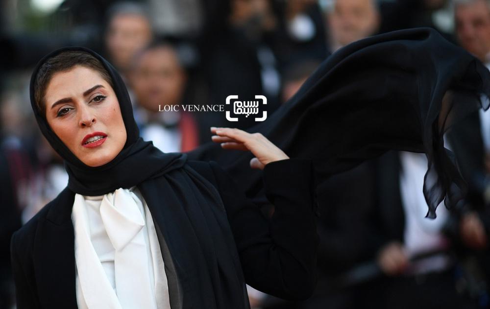 بهناز جعفری بازیگر فیلم «سه رخ» در اختتامیه جشنواره فیلم کن 2018