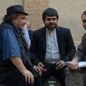 مسعود ده نمکی و محمدرضا شریفینیا و امیر نوری در پشت صحنه فیلم رسوایی 2