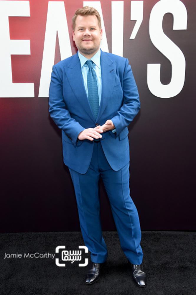 جیمز کوردن در فرش قرمز فیلم «هشت یار اوشن»(Ocean's 8) در نیویورک