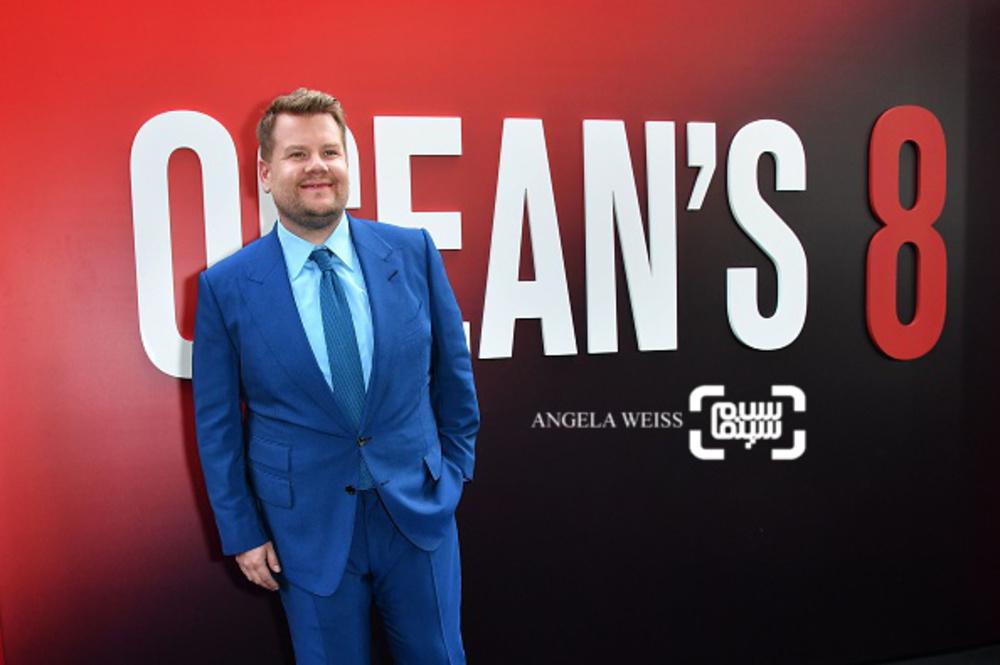 جیمز کوردن در فرش قرمز فیلم سینمایی «هشت یار اوشن»(Ocean's 8) در نیویورک