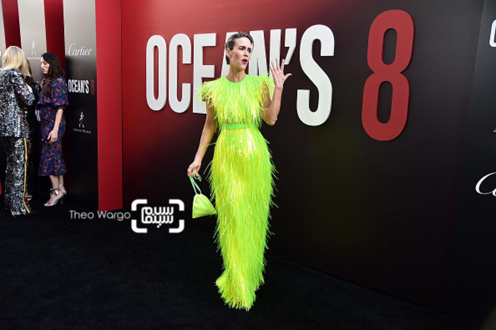 سارا پلسون در فرش قرمز فیلم «هشت یار اوشن»(Ocean's 8) در نیویورک