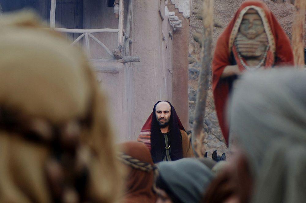 محسن تنابنده در نقش «ساموئل» تاجر یهودی در فیلم محمد رسول الله (ص)