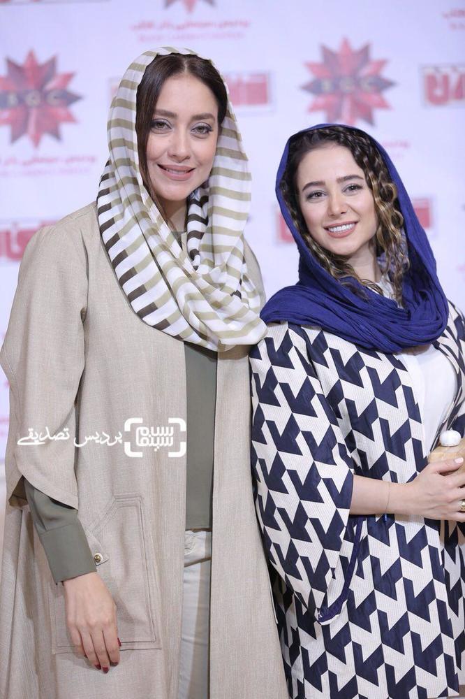 الناز حبیبی و بهاره کیان افشار در اکران خصوصی فیلم «دشمن زن»