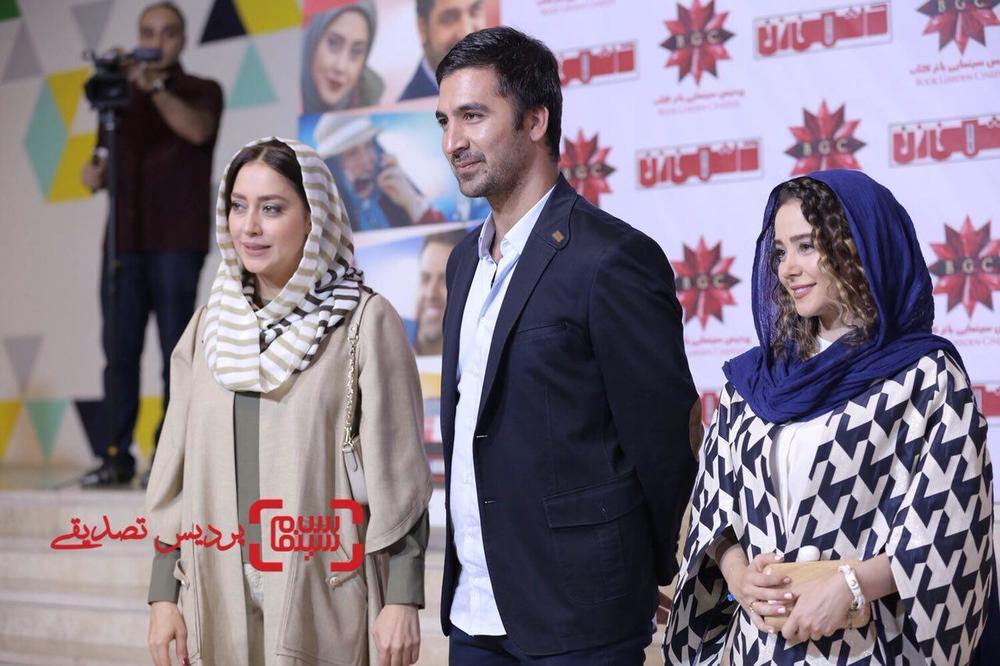 کریم امینی، الناز حبیبی و بهاره کیان افشار در اکران خصوصی فیلم «دشمن زن»