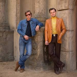 برد پیت و لئوناردو دی کاپریو در فیلم سینمایی روزی روزگاری در هالیوود