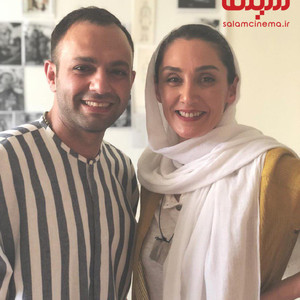هدیه تهرانی و صابر ابر در پشت صحنه فیلم «مسخره باز»