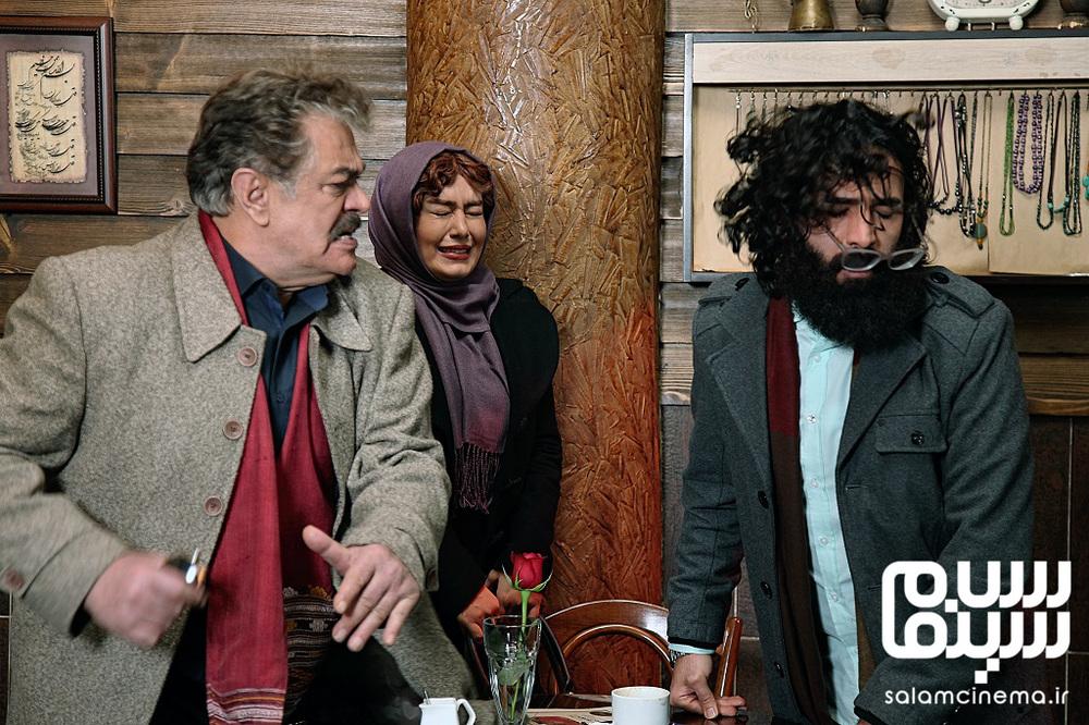 محمدعلی محمدی، سحر قریشی و چنگیز وثوقی در فیلم سینمایی «عشقولانس»