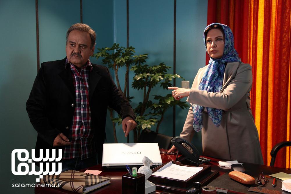 لعیا زنگنه و اکبر عبدی در فیلم «عشقولانس»