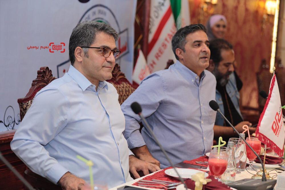 منصور سهراب پور و سیدامیر پروین حسینی در نشست خبری سریال «ساخت ایران2»