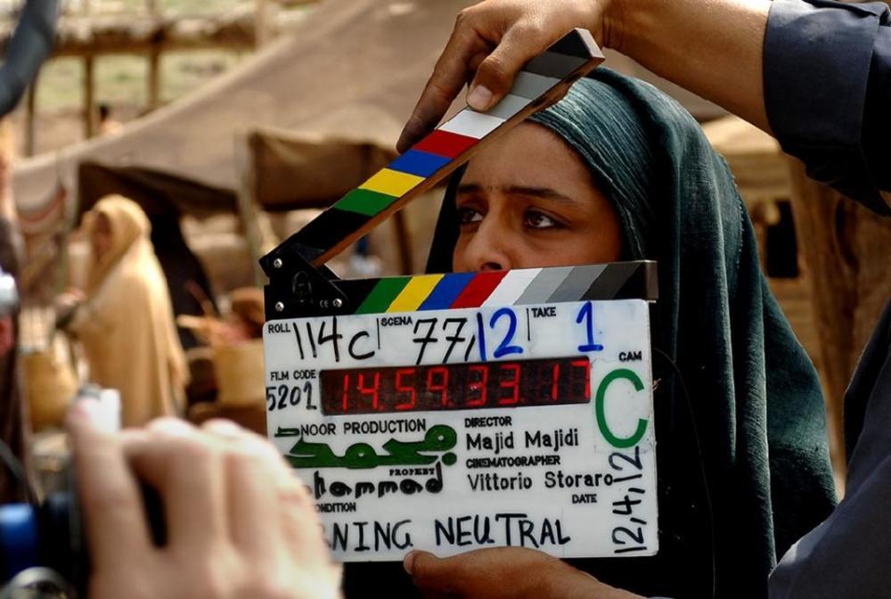 ساره بیات در پشت صحنه فیلم محمد رسول الله (ص)