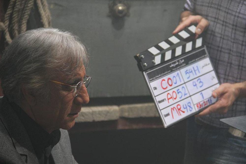 مسعود رایگان در پشت صحنه فیلم مزار شریف