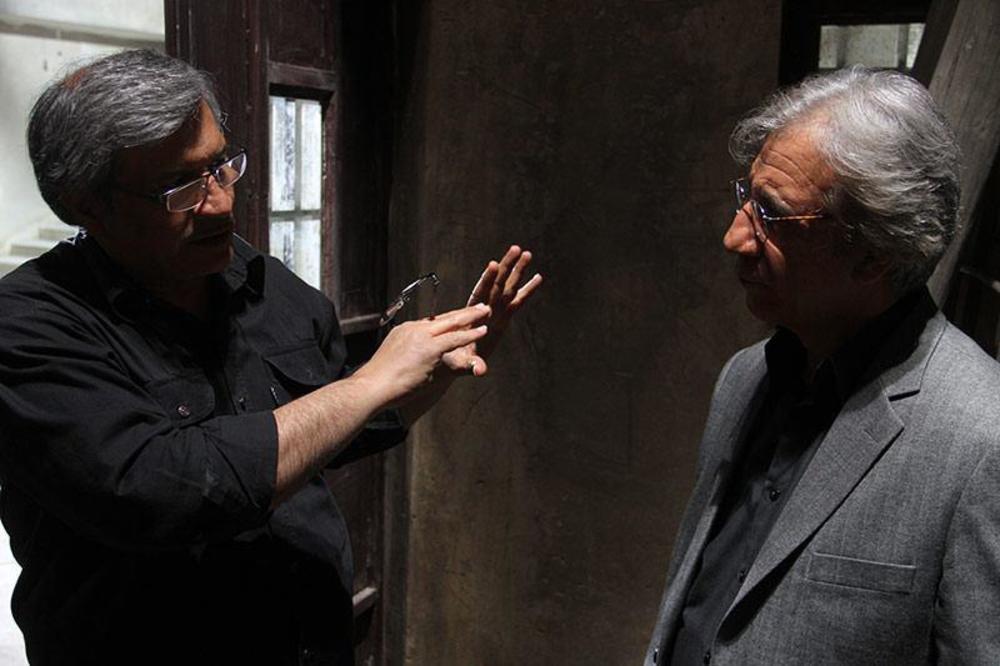 مسعود رایگان و عبدالحسن برزیده در پشت صحنه فیلم مزار شریف