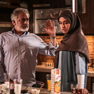 مجید مشیری و ریحانه پارسا در سریال «پدر»