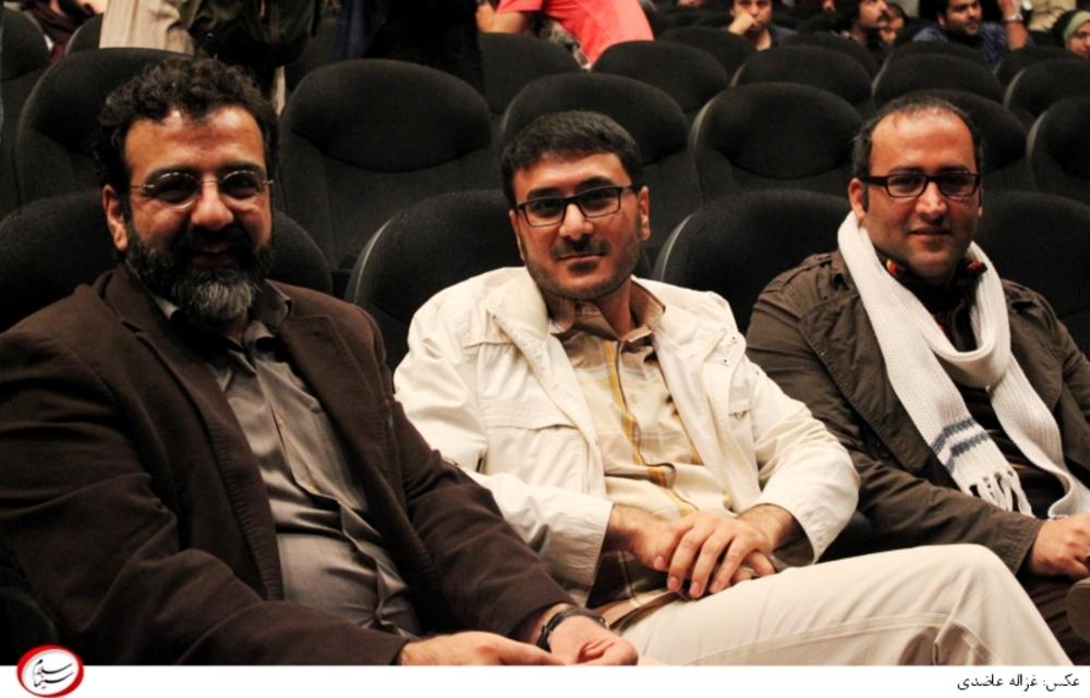 مجید اسماعیلی و محمدرضا شفیعی و جواد یحیوی در اکران خصوصی فیلم ماهی سیاه کوچولو