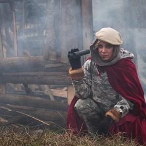 شراره رخام در نمایی از فیلم مبارزان کوچک
