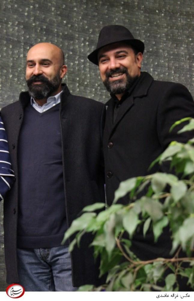 برزو ارجمند و علی جلیلوند در اکران خصوصی فیلم چهارشنبه 19 اردیبهشت