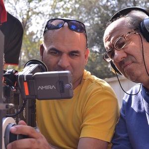 کمال تبریزی و فرشاد محمدی در پشت صحنه فیلم «امکان مینا»