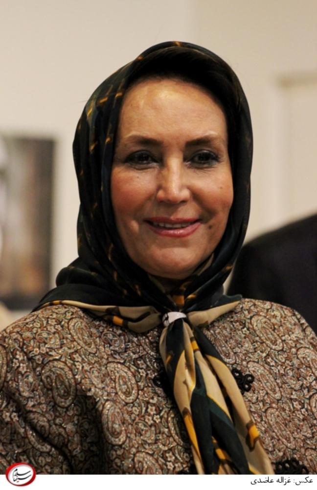 مهوش صبرکن، همسر محمود پاک نیت در نشست خبری سریال «شهرزاد»