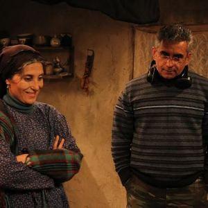 فاطمه معتمد آریا و الچین موسیاوغلو در پشت صحنه فیلم «نبات»(nabat)