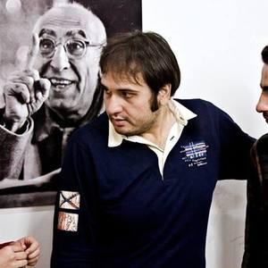 نوید محمدزاده، باران کوثری و رضا درمیشیان در پشت صحنه فیلم «عصبانی نیستم»