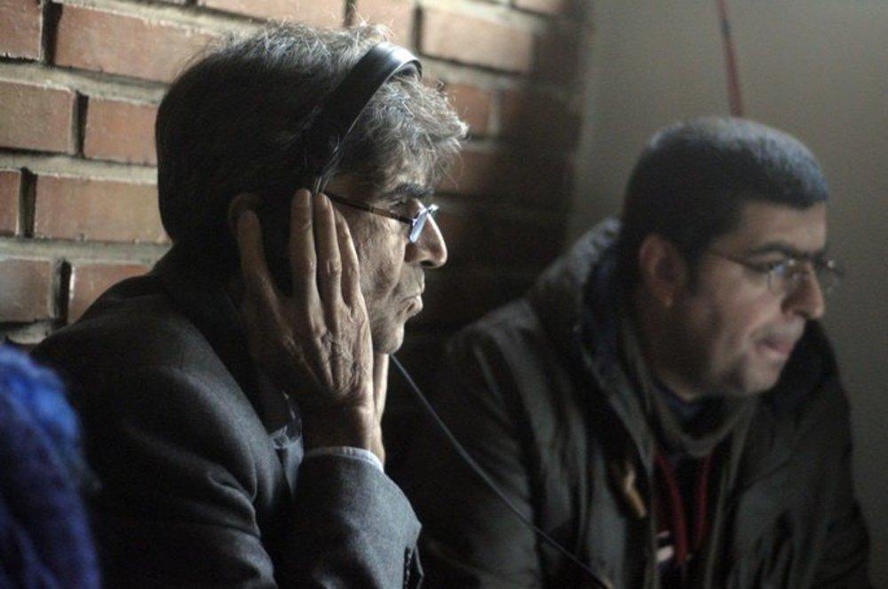 مجید برزگر و ناصر تقوایی در پشت صحنه فیلم یک شهروند کاملا معمولی
