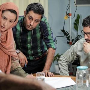 پشت صحنه فیلم «عادت نمی کنیم» با حضور هدیه تهرانی، محمدرضا فروتن و علی مردانه