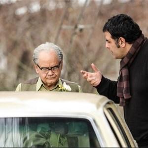 محسن امیریوسفی و اکبرعبدی در نمایی از پشت صحنه فیلم «آشغال های دوست داشتنی»