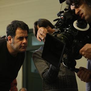 تورج اصلانی و محسن امیریوسفی در نمایی از پشت صحنه فیلم «آشغال های دوست داشتنی»