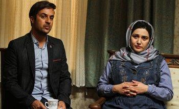 باران کوثری و احمد مهرانفر در نمایی از فیلم «هفت ماهگی»