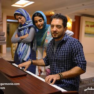 نمایی از فیلم «نقش نگار» با بازی بهرام رادان، الهه حصاری و  آیلین حسینیان