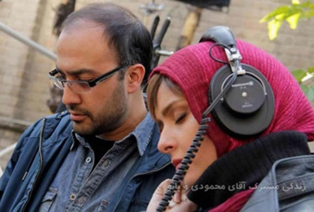 روح الله حجازی و ترانه علیدوستی در پشت صحنه فیلم سینمایی «زندگی مشترک آقای محمودی و بانو»