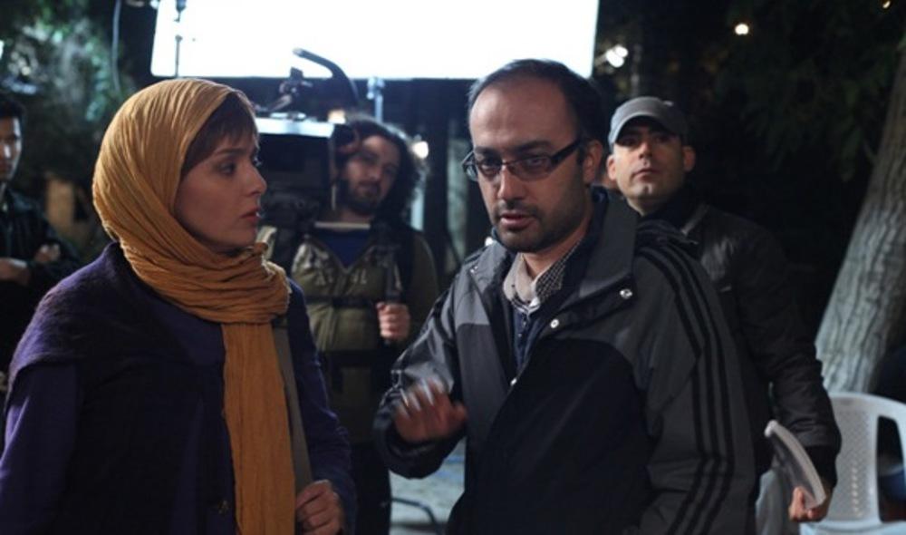 روح الله حجازی و ترانه علیدوستی در پشت صحنه فیلم «زندگی مشترک آقای محمودی و بانو»