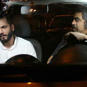 عباس غزالی و سروش صحت در فیلم قیچی
