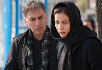سارا بهرامی و حمیدرضا آذرنگ در نمایی از فیلم «گیتا» اولین ساخته مسعود مددی