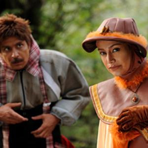 نمایی از فیلم کودکانه «تتل و راز صندوقچه»با بازی امیر غفارمنش، بهاره افشاری