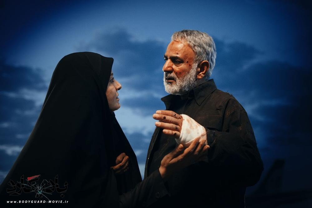 پرویز پرستویی و مریلا زارعی در نمایی از فیلم «بادیگارد»