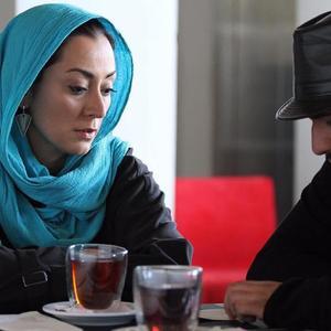 رضا درمیشیان و مریم پالیزبان در پشت صحنه فیلم «لانتوری»