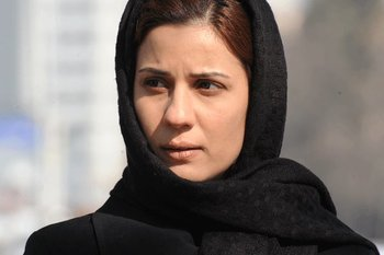 سارا بهرامی در نمایی از فیلم «گیتا»