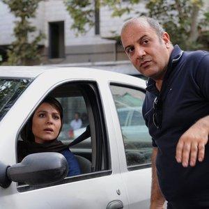 سحر دولتشاهی و بهنام بهزادی در نمایی از پشت صحنه فیلم «وارونگی»