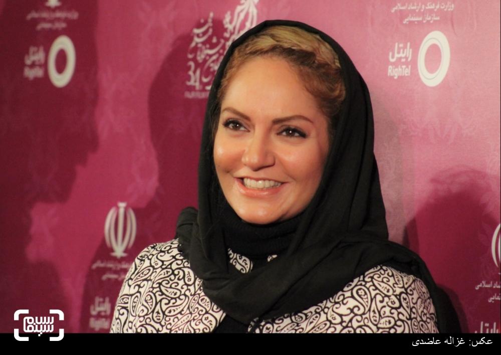 مهناز افشار، فیلم «خانهای در خیابان چهل و یکم» در فرش قرمز سی و چهارمین جشنواره فیلم فجر